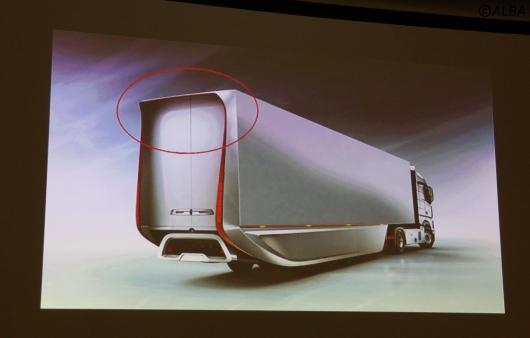 VORTEC(ボーテック)開発のヒントとなった大型トレーラーの空気抵抗低減技術